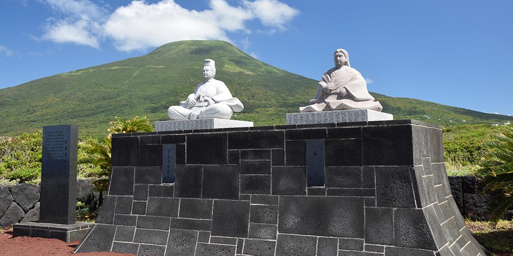 宇喜多秀家公と豪姫の像