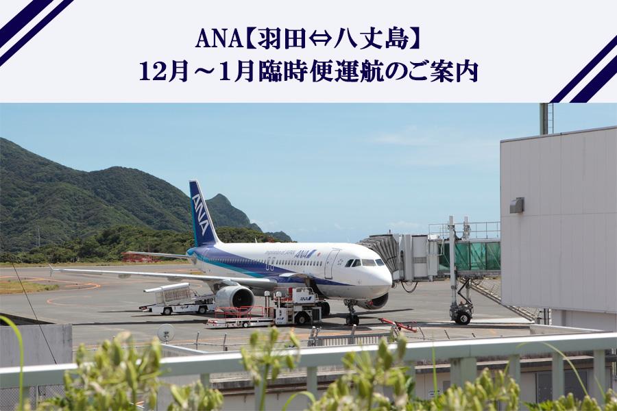 ANA【羽田⇔八丈島】12月~1月 臨時便運航のご案内