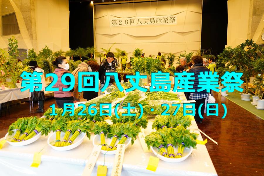 第29回八丈島産業祭 1月26日(土)・27日(日)